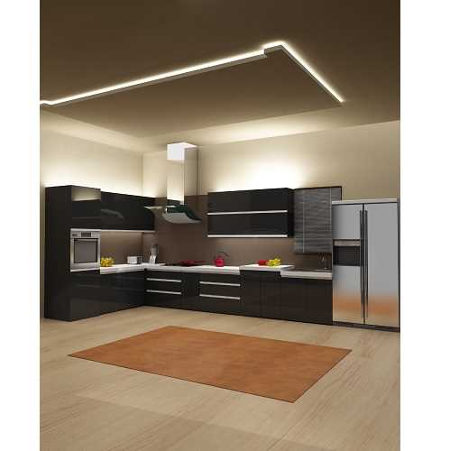 High Gloss Acrylic Black Modular Kitchen In Pune