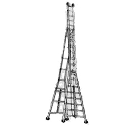 Self Supporting Extension Ladder With Wheels Indian Trade Bird