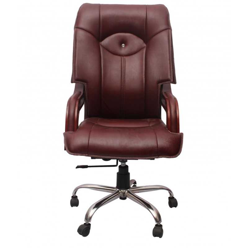 Brown-Executive-Chair-With-Height-Adjustment