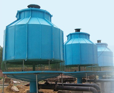 FRP-Round-Shape-Cooling-Towers