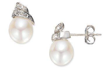 Pearl-Diamond-Earring