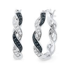Silver-Diamond-Earrings